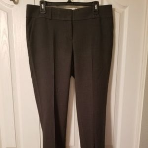 Loft gray crop pants